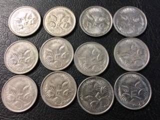 RAM parcel 12  x 5 cent coins 2008        J 2011