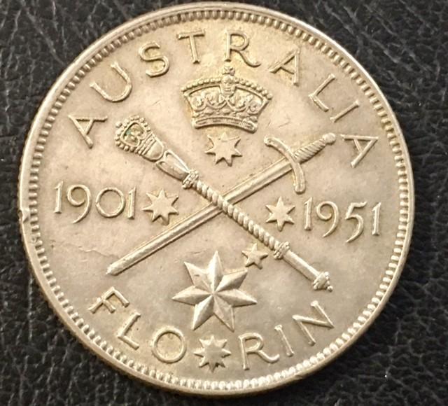 Florin 925 silver coin ,Nice condition  J 2017