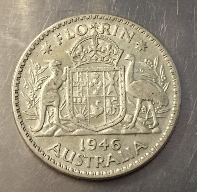 1946 Florin 500 silver coin ,Nice condition   J 2023