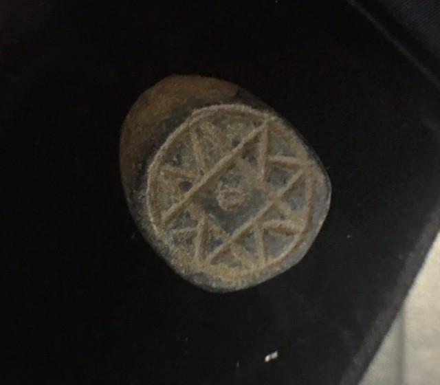 Ancient artifact    tip of  bronze ring AC 903