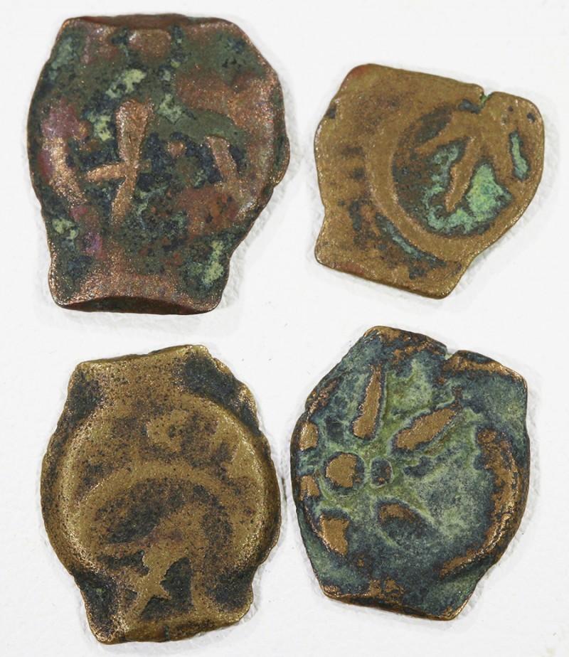 Four Widows Mite coin in Display case SU763