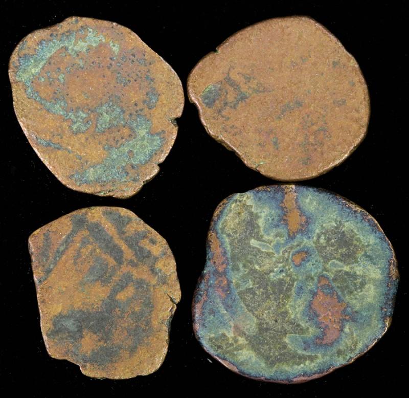Four Biblical Coin Janenaeus /Widows mite Period  SU759