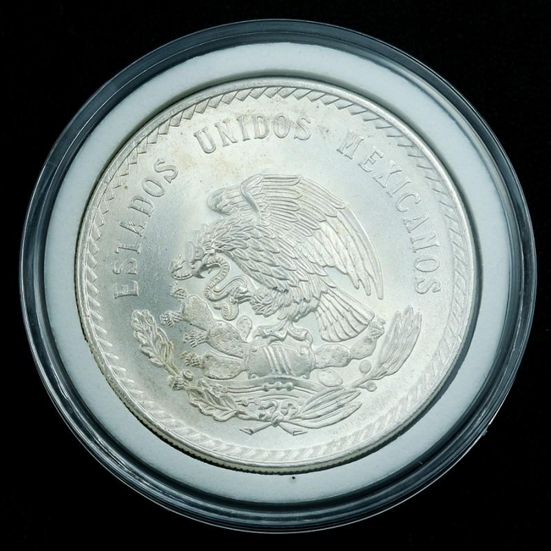 Silver .900   1948 Mexican 5 Peso in Capsule
