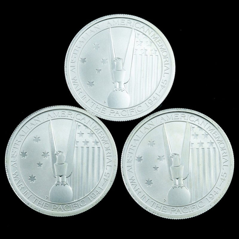 Silver .999   Three 1/2 Ounce  Australian-American memorial 2013
