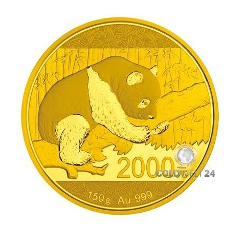 2016 China Panda 150 gram Gold Proof Coin