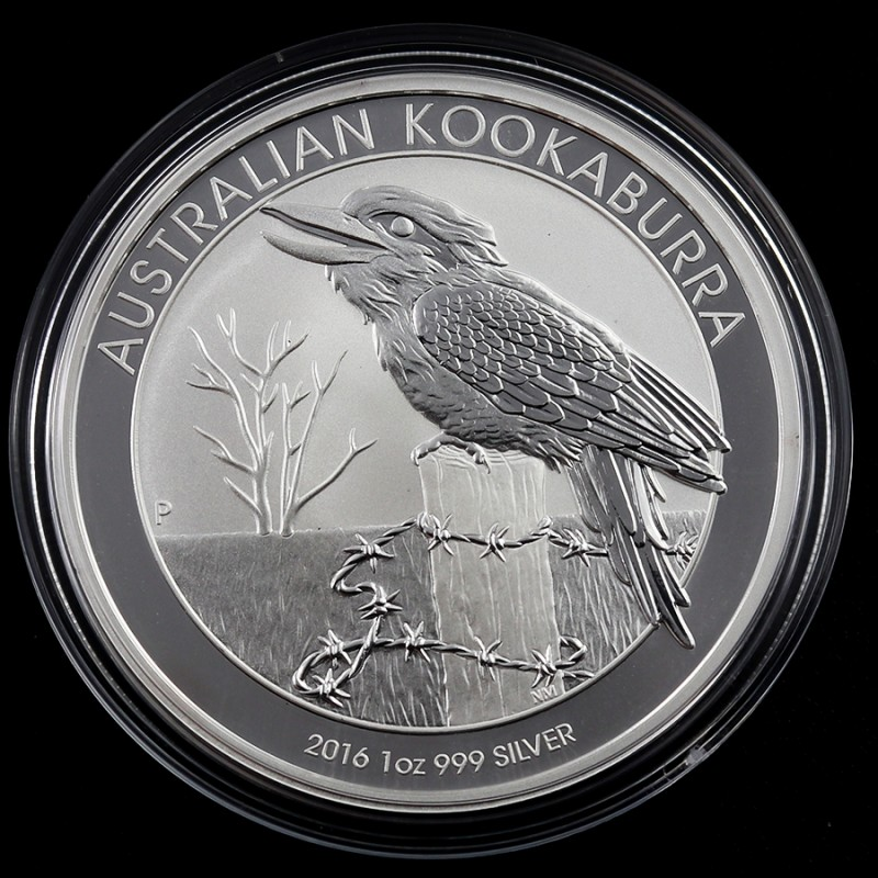 2016 Kookaburra One  Ounce  Silver Coin 99.9 pure