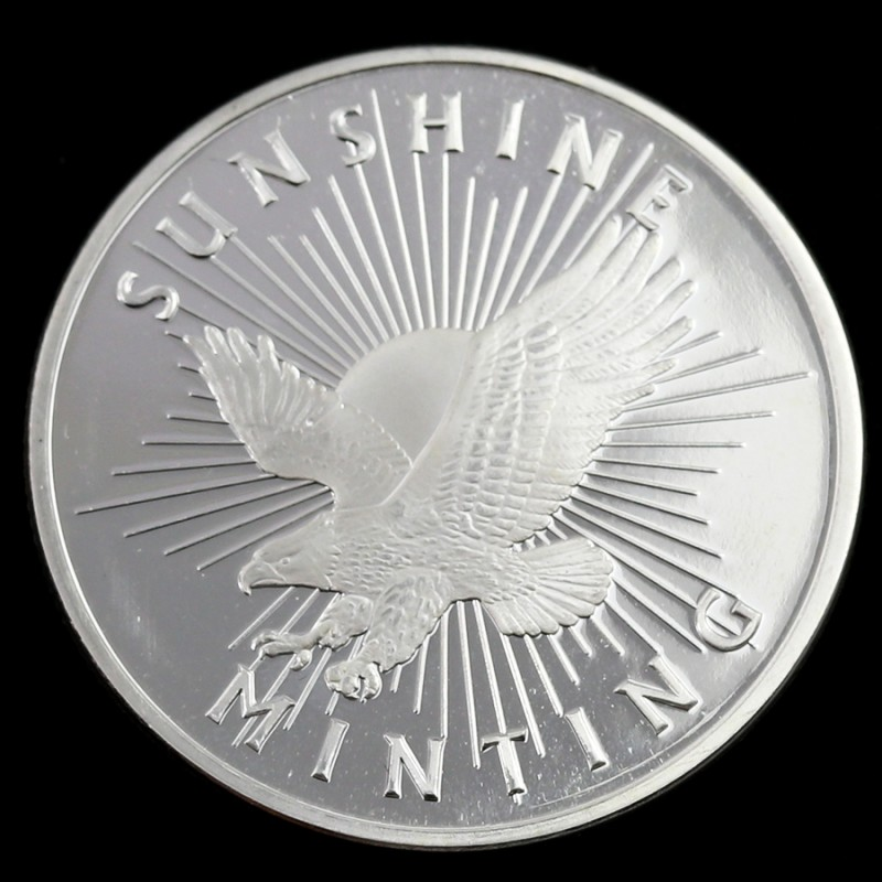 .999 fine Silver Round one ounce Sunshine Mint Si
