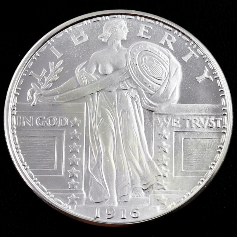 Silver Round one ounce standing Liberty