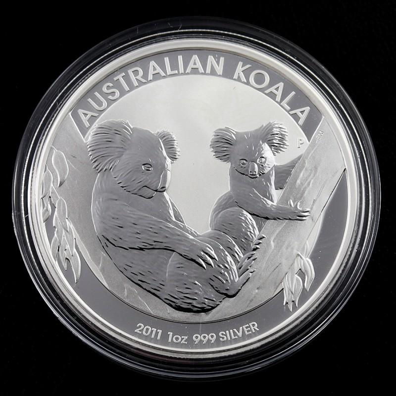 2011 AUSTRALIAN  ONE OUNCE KOALA SILVER   COIN