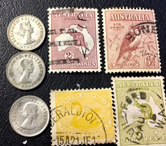Parcel 3  x500 Silver 3 p  coins plus stamps J2609
