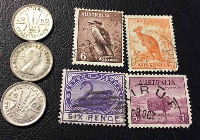 Parcel 3  x500 Silver 3 p  coins plus stamps J2600