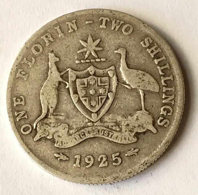 aUSTRALIAN Florin 925 silver J2621