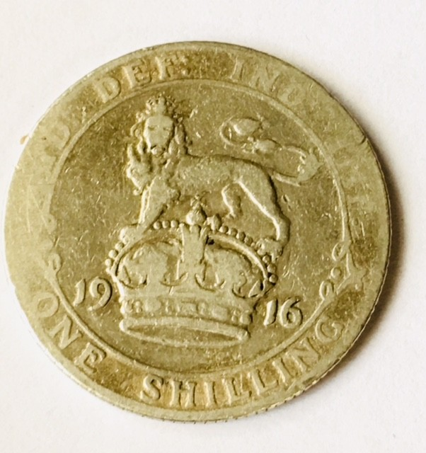 Great Britian One shilling 925 silver J2629