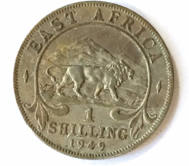 1949 British East africa one shilling   J2639