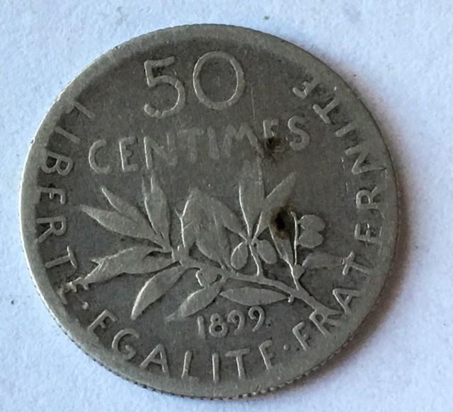 France 835 SILVER   coin  thrid republic J2650