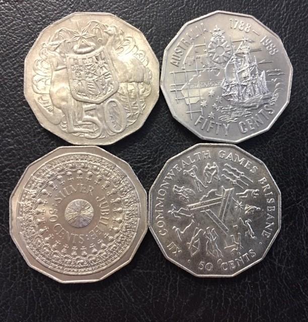 Parcel four Australian 50 cent coins  J 2667
