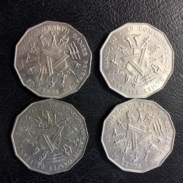 Parcel four Australian 50 cebnt coins  J 2670