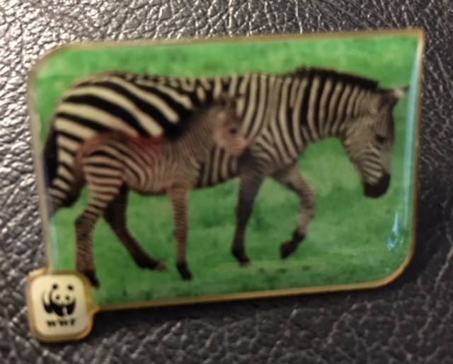wwf 1986 Badge  ZEBRA  J2689