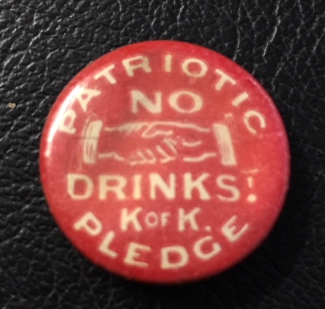 NO DRINK PLEDGE  Badge  J2692