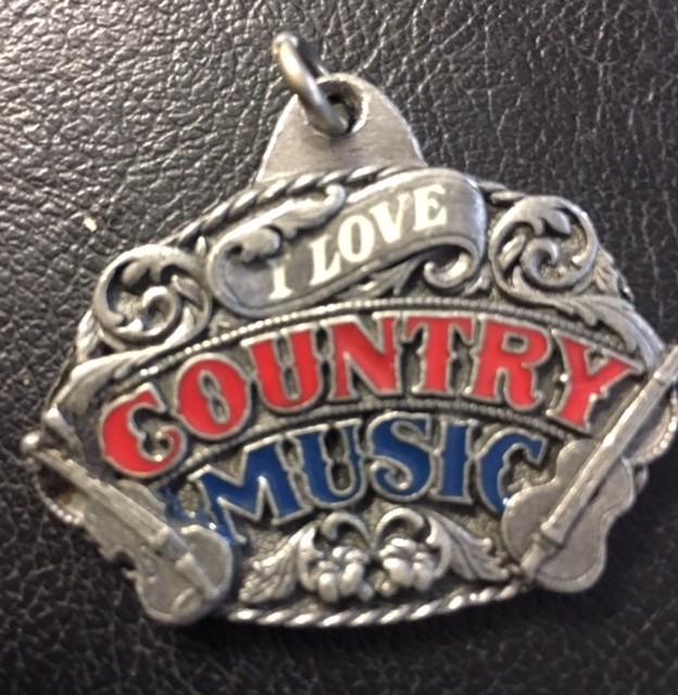 I LOVE COUNTRY MUSIC Badge  J2694