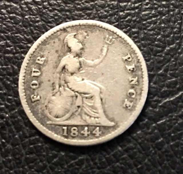 four pence   925 Silver coin J 2702