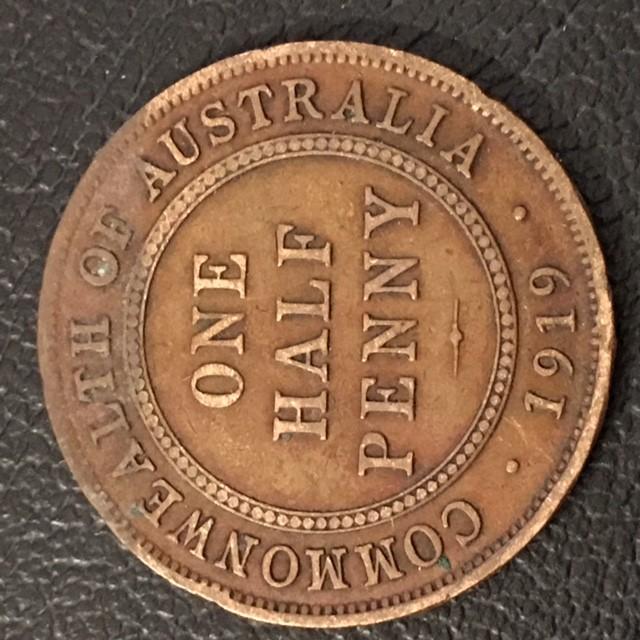 1919 Australian Penny coin King George V J 2716