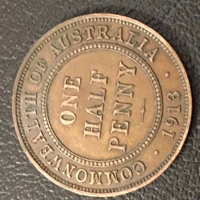 1913 Australian Penny coin King George V J 2719