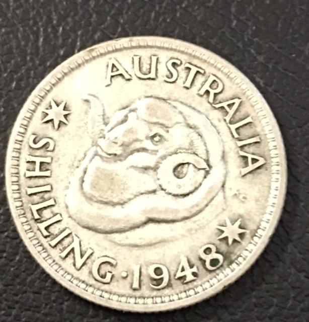 1948  .500 Shilling SILVER COIN J 2720
