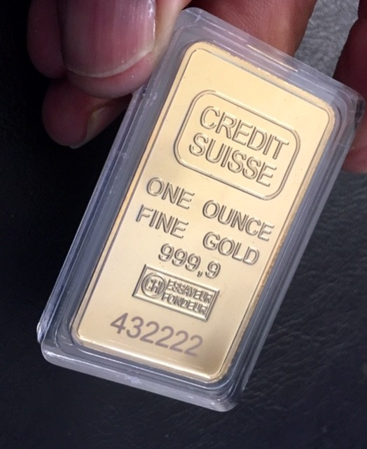 Replica  Gold Credit Suisse 1oz Gold Plated  Bar J 2730