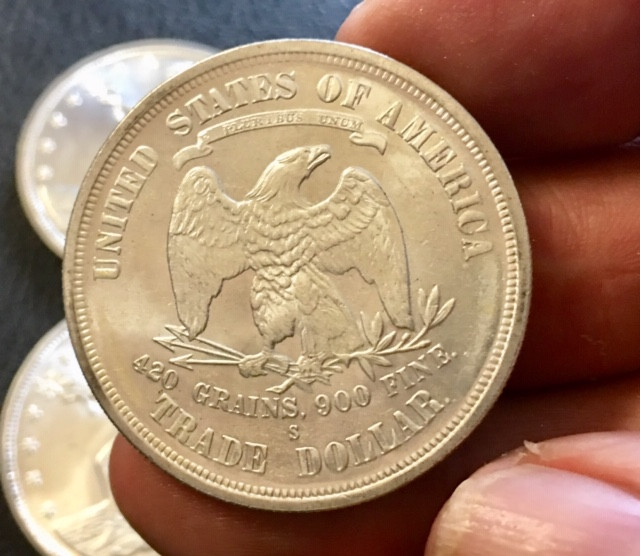Replica set six  Trade Dollars 1873 to 1877   J 2750