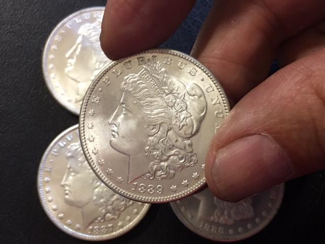 1886  1889  Replica set four   Morgan Dollars   J 2762