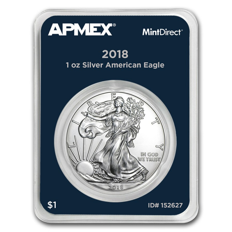2018 silver eagle in welded plastic polymer case .999 pure