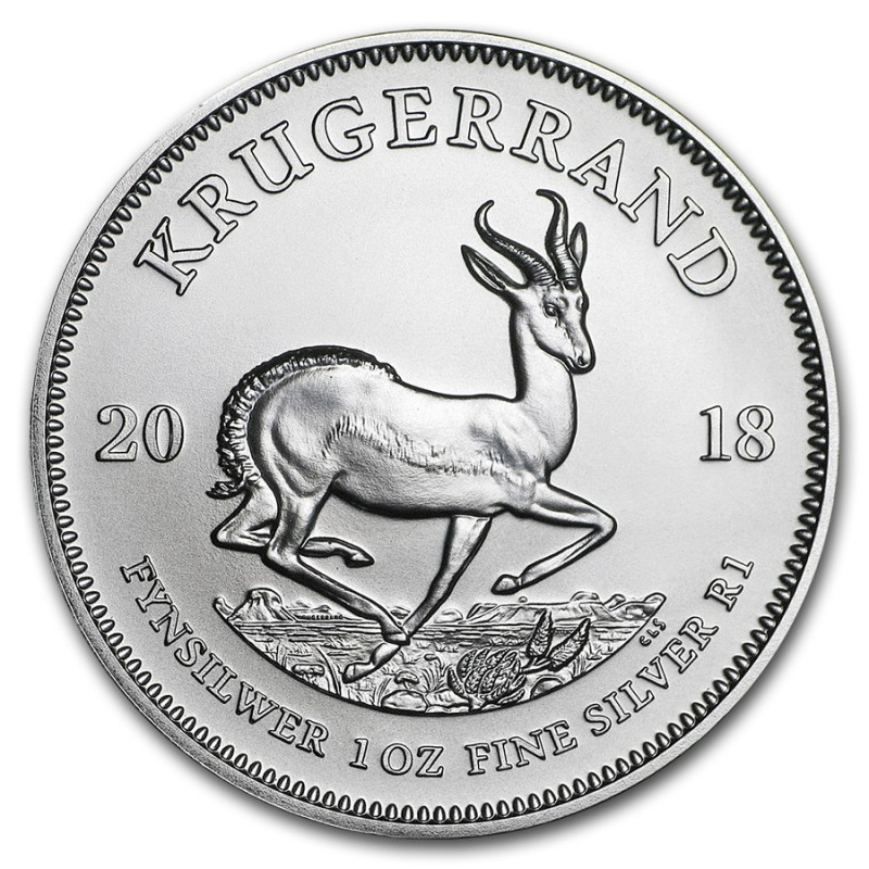 1 oz Silver Krugerrand    2018 South africa  .999 pure silver