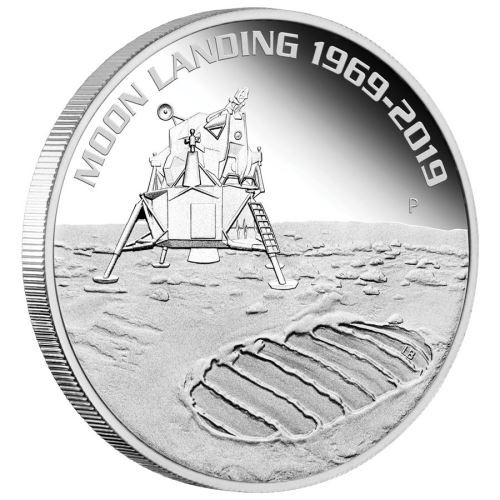 Moon Landing 50th  Anniversary ,Space coin,  Pure Silver 99.9% one Ounce