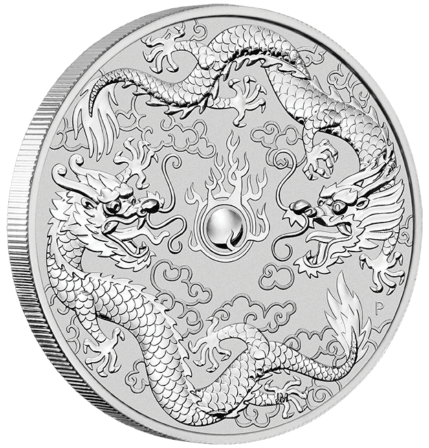 Double Dragon 2019Silver One Ounce  Pure Silver 99.9%