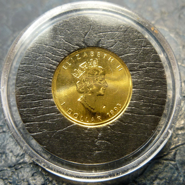 1993 1/20th gold maple canadian coin CO1460