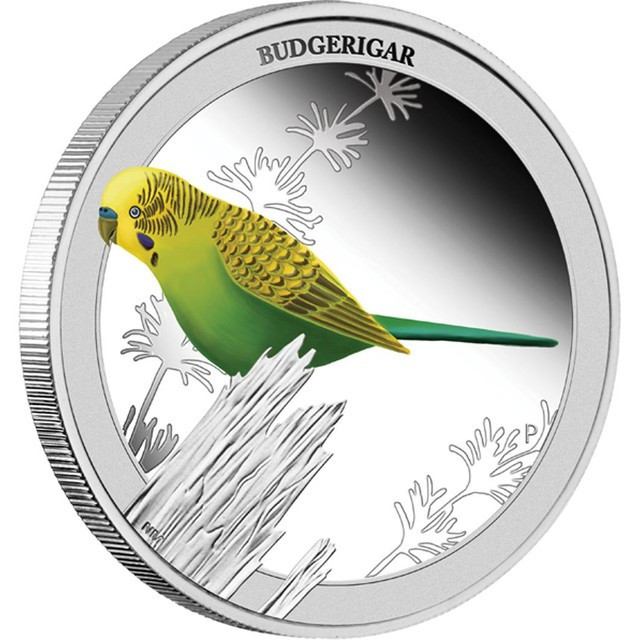 BUDGERIGAR 2013 1/2OZ SILVER PROOF COIN