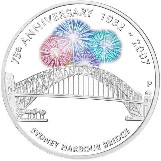 2007 Sydney Harbour Bridge 1oz Silver Proof Coin oficial pri