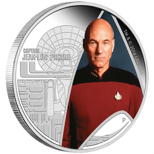 Star Trek: The Next Generation - Captain Jean-Luc Picard 2015 1oz Silver Pr
