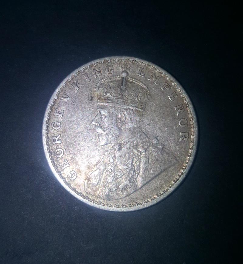 Sliver coin  1 Rupee - George Vking emperor 1919