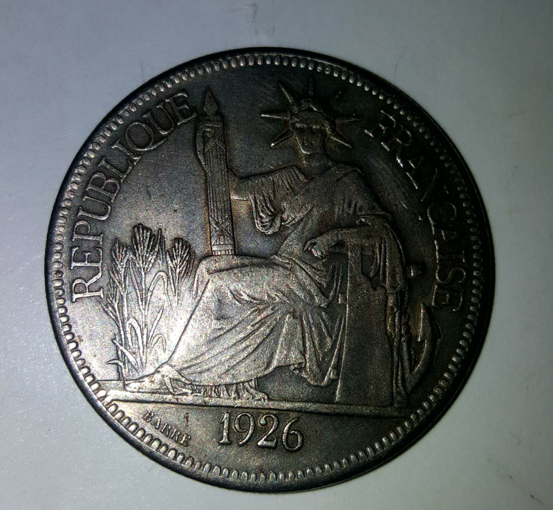1 Piastre  french Indochina 1926 silver