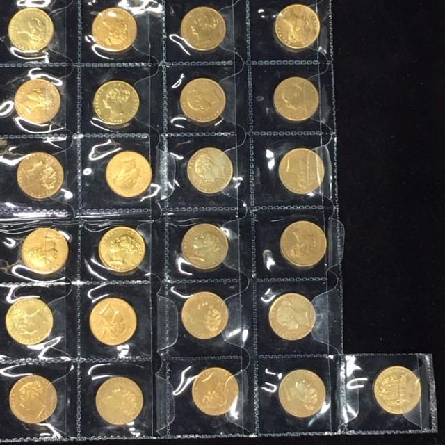 Collectors set Gold Queen Victoria Young Head 25 pcs CP 331