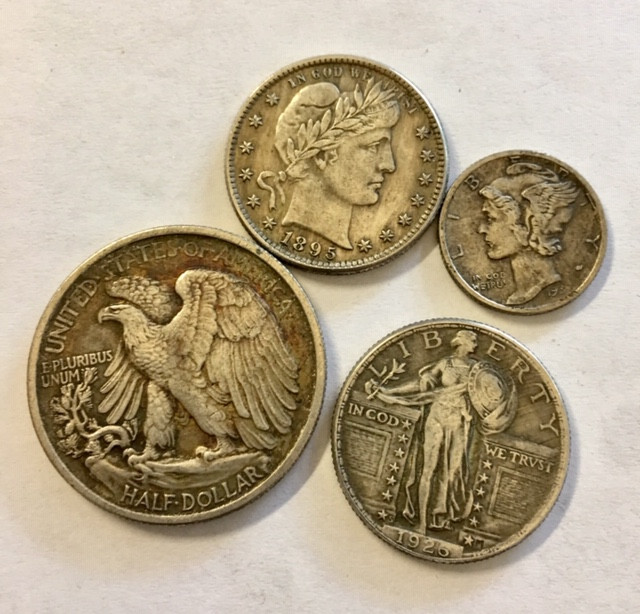 Collectible USA silver copy coins  4 pieces CP 336