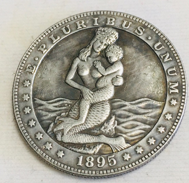 Hobo Coin Lady Artistic  Form Design   CP 453
