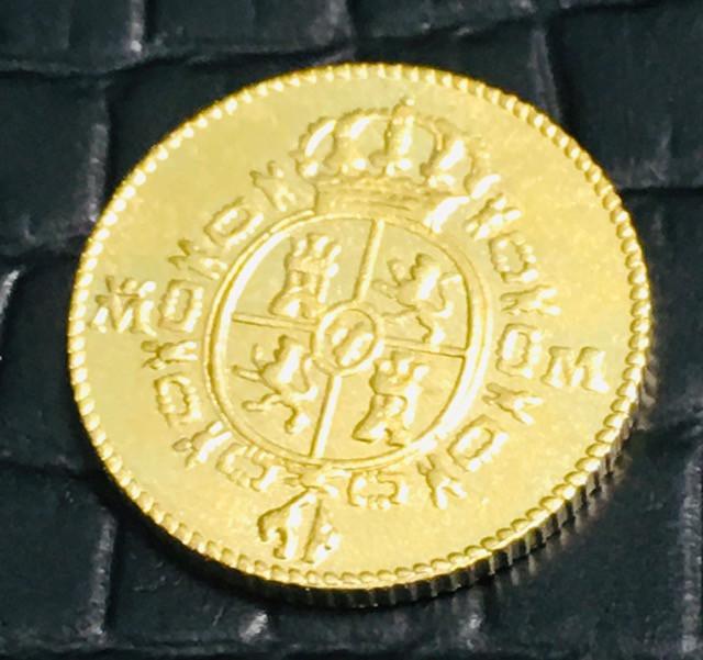 Reproduction  1788 Gold Escudos Doubloon Coin CP 470