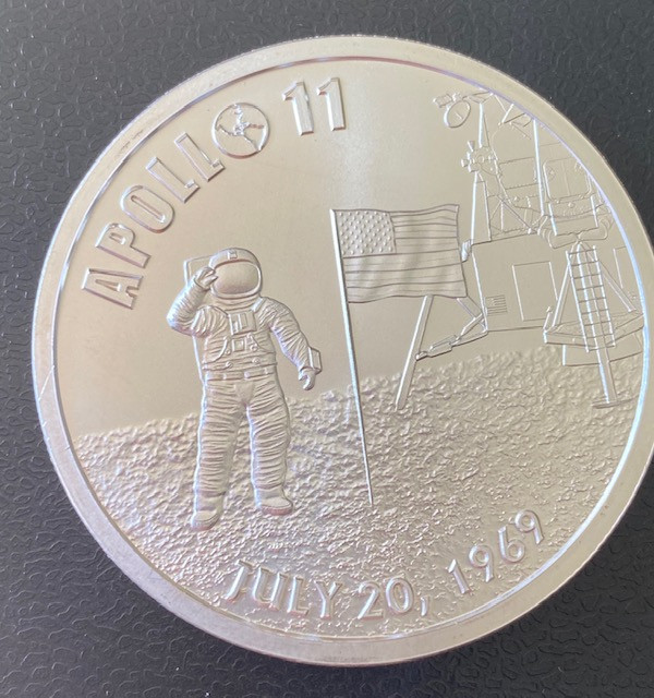 Apollo 11 50th Anniversary Proof .999 Silver Round one ounce