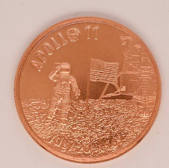 Apollo 11 50th Anniversary Proof .999 Copper  Round one ounce