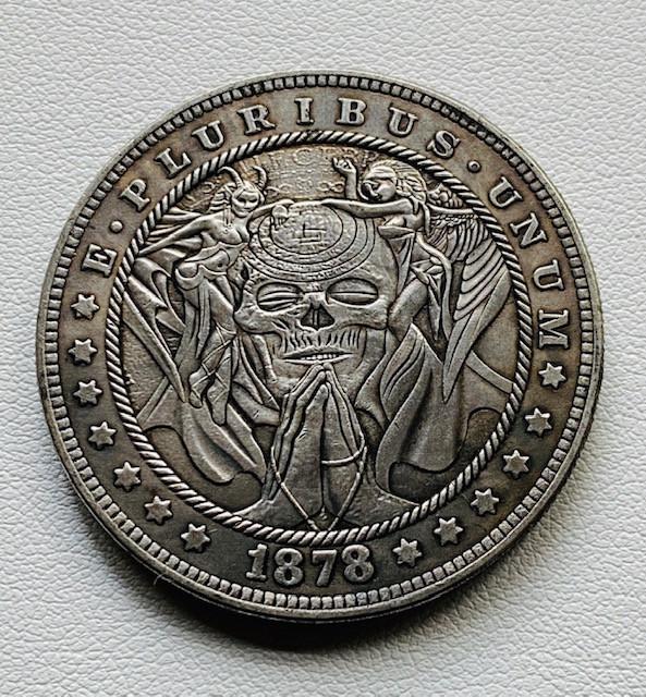 Hobo Skull Praying Morgan Art Form Design CP 512