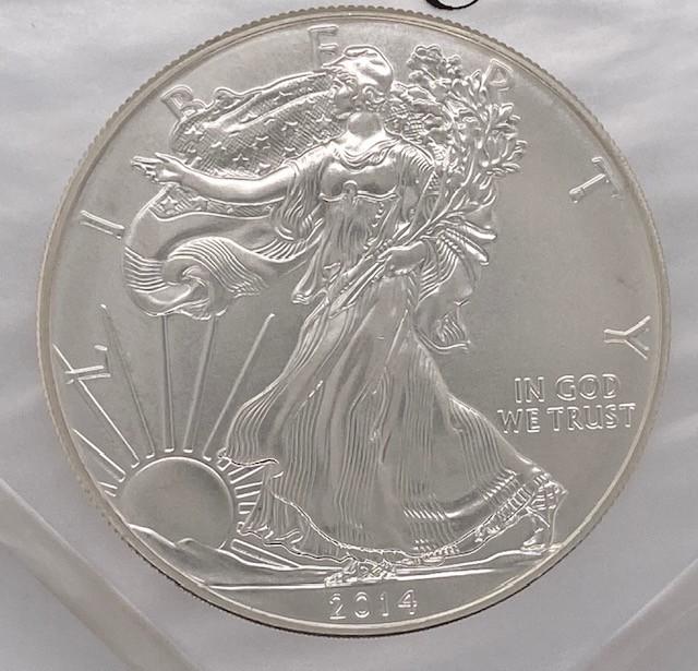 2014 One Ounce USA Silver .999 pure silver coin
