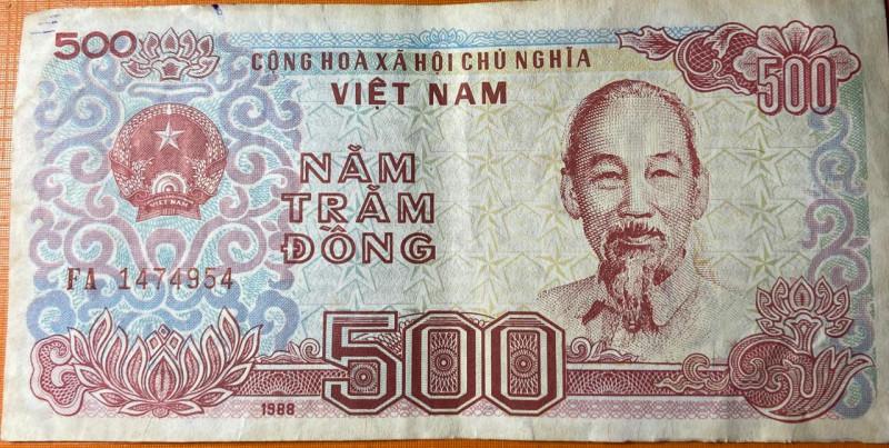 VIETNAM /VIET NAM 1988 UNC 500 Dong Banknote
